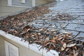 Clogged gutters can cause water to back up under your shingles.